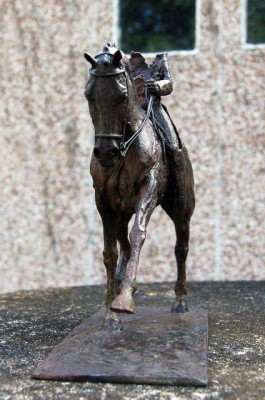 """Extended Trot I"" (other view) Edition: 1/8, Bronze, 9.85 x 11.85 inches, Signed"