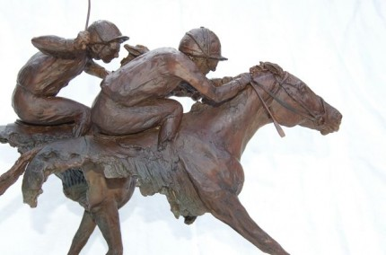 """The Finishing Line"" Edition 2/8, Bronze, 15.75 x 17.75 inches, Signed"