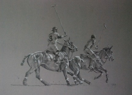 """Fast Forward"" 2009, Graphite on canson, 14 x 18 inches, Signed"