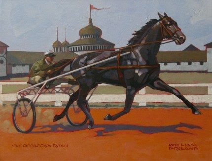 """The Great Dan Patch"" Acrylic on canvas, 16 x 20 inches, Signed"