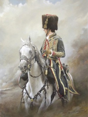 """Cheval de la Garde (Napoleonic Wars)"" 2011, Series: A Tribute in Oils to the Military Horse, Oil on linen canvas, 24 x 18, Signed, Bespoke frame"