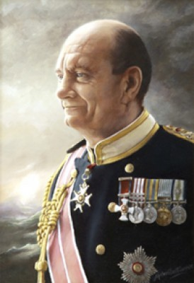 """Admiral Sir Jeremy Black GBE, KBE, DSO"" 2010, Commissioned Portrait, Oil on linen canvas, 18 x 12.5inches, Signed"