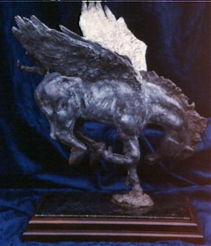 """""""Dare to Dream"""" Bronze, 2 A/P, Edition of 12, 21 x 20 x 14 inches"""