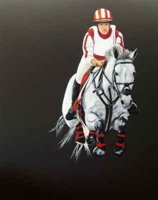 """Jump"" Oil on canvas, 60 x 48 inches"