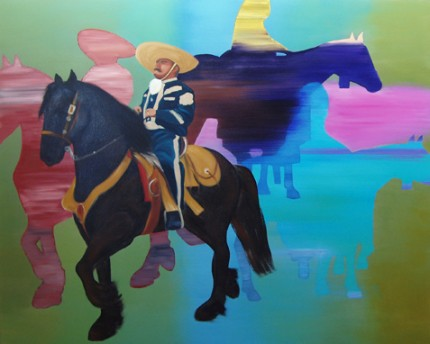"""Spanish Rider"" Oil on canvas, 48 x 60 inches"