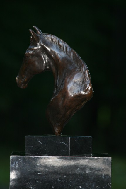 """""""The Prophet"""" (Back view) Bronze, 2 A/P, Edition of 15, 14 x 11 x 5 inches"""