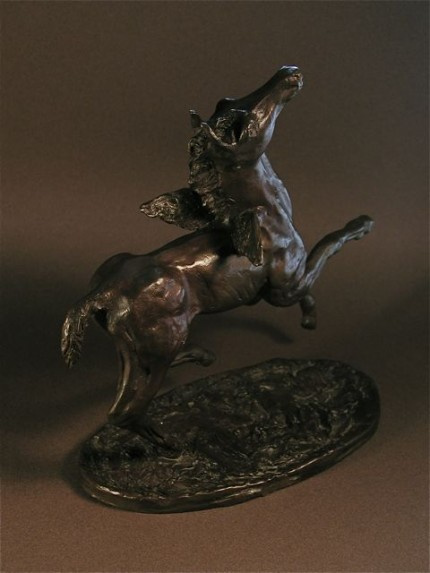 """Little Angel"" Bronze, 2 A/P, Edition of 25, 11 x 10 x 5 inches"