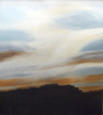 """Big Sky #2"" Oil on canvas, 62 x 56 inches, Signed"