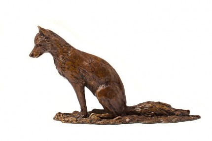 Little Fox, Bronze, Edition of 9, 12 x 23 x 7 cm