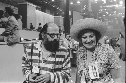 Allen Ginsberg & Bella Abzug, Poet and politician, At the Democratic Convention, Miami Beach, 1972