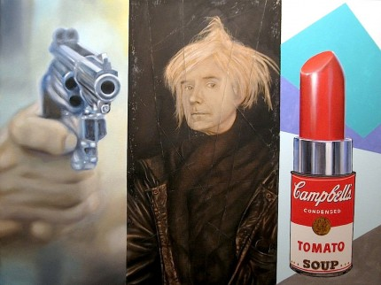 """Andy Warhol"" Oil on canvas, 36 x 48 inches, Signed"