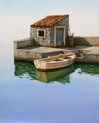 """Little Harbor"" The Water Series, Oil on canvas, 20 x 16 inches, Signed"