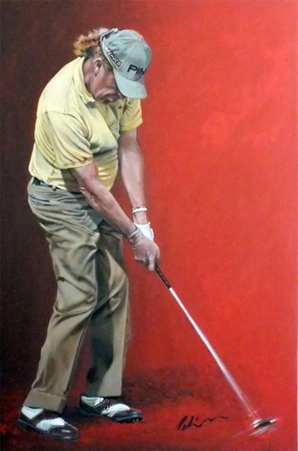 """Miguel Angel Jimenez"" Acrylic on canvas, 120 x 80 cm, Signed"