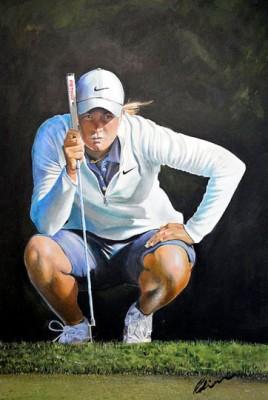 """Suzann Pettersen"" Acrylic on canvas, 120 x 80 cm, Signed"