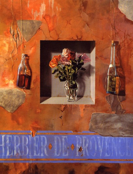 """Scent of Paris"" Still Life Series, Oil on canvas, 80 x 60 inches, Signed"