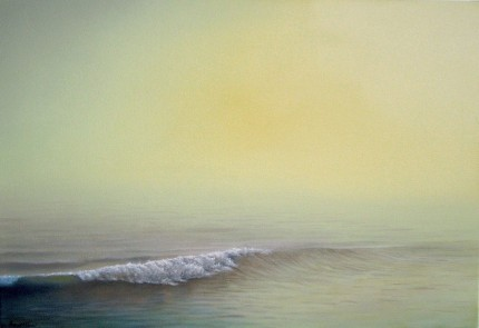 """Sea Shore"" The Water Series, Oil on canvas, 22 x 34 inches, Signed"