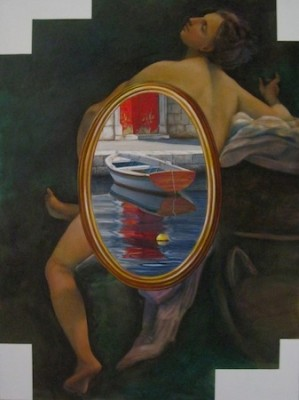 """Serenissima 1"" The Water Series, Oil on canvas, 48 x 36 inches, Signed"