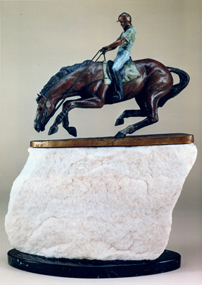 """Bank On It"" Bronze, Edition of 12, 17 x 12 x 3 inches"