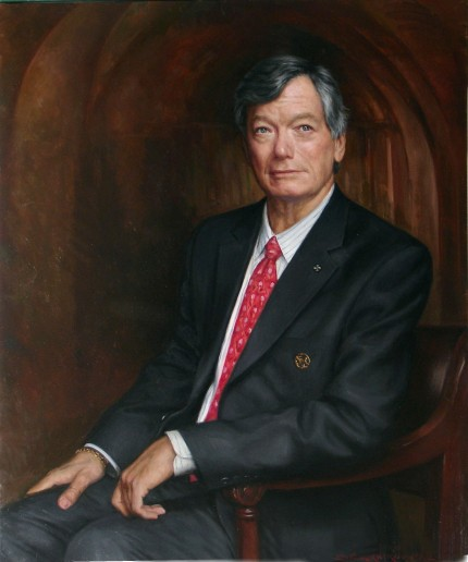 """George Pine"" oil on canvas, 30 x 36 inches"