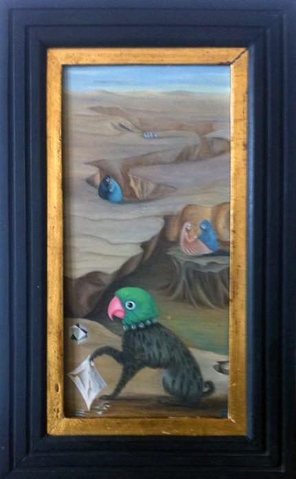 """""""Parrot c. 1960"""" Milou de Montferrier's Collection in San Miguel de Allende, Guanajuato"""