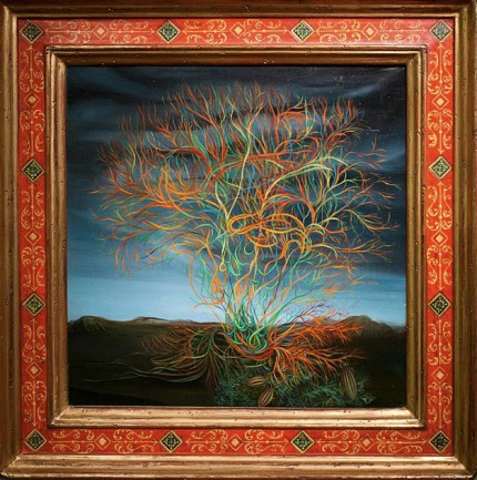"""Zarza"" Oil on Masonite, Private Collection, Exhibitions: Museum of Modern Art, Mexico DF, Mexico, April 2011"