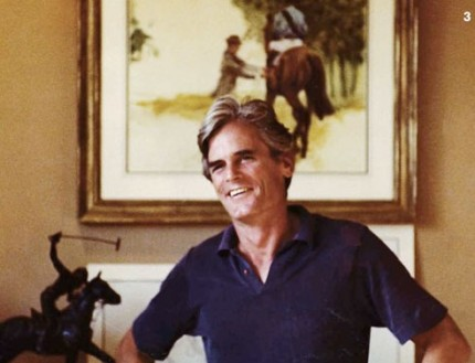 Hugh Jeremy Chisholm in Chisholm Gallery, Palm Beach Polo Country Club 1982
