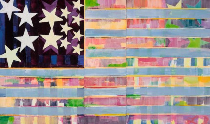 """New Flag 5"" Acrylic on wood, 36 x 60 inches"