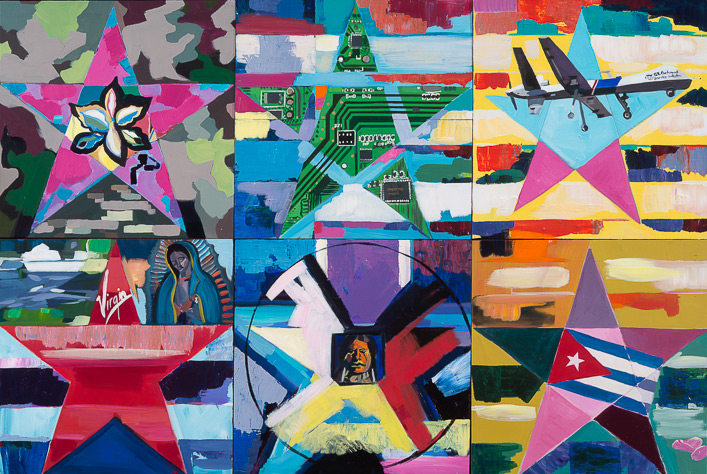 """""""Stars"""" Acrylic on wood, 48 x 72 