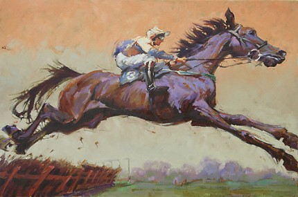 """Airborne"" Oil on canvas, 24 x 36 inches, Signed"
