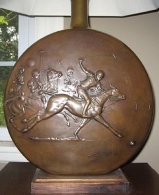 "George Claxton, American (1947 – 1994) ""American Polo Lamp"" 1982, Bronze, Edition 5 of 7, 20 x 18 inches, Signed and Numbered"