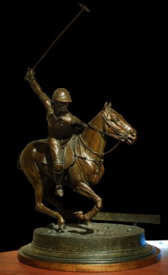 "Jim Leslie, American Contemporary ""Going For It"" Edition 2 of5, Bronze, 16 x 25 x 14 inches, Signed and Numbered"