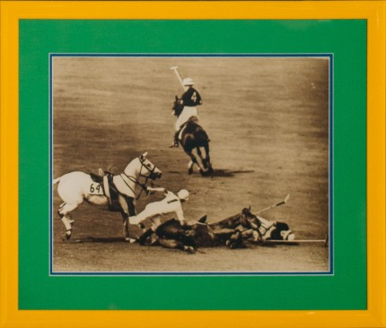 "Freudy ""Polo Mishap on the Field"" Photograph, 10.75 x 13.5 inches"