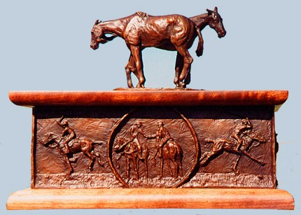 "Rich Roenisch, Canadian Contemporary ""Polo Box"" Bronze, Edition of 250, 8 x 11 x 9 inches (Top lifts off), Signed and Numbered"