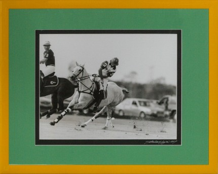 """Polo Match"" Photograph, 10.5 x 13.5 inches"