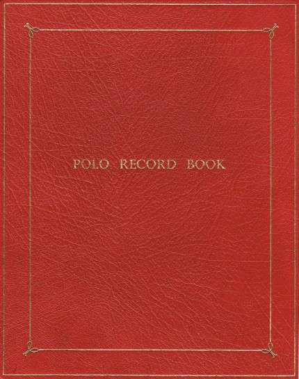 Polo Record Books with red morocco leather gilt cover | Belonging to H. Jeremy Chisholm