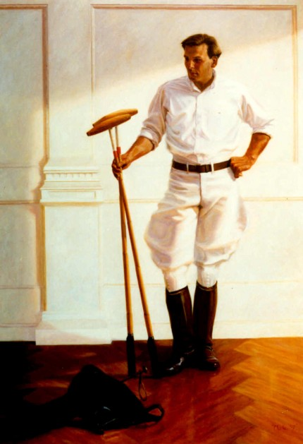 "Lonni Clarke, American Contemporary ""Dr. Taylor"" Oil on canvas, 96 x 78 inches, signed and dated 1986. Private Collection: Ralph Lauren, Beverly Hills. Commissions are welcomed"