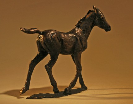 "Deborah Burt, British Contemporary ""Foal Sketch I"" Bronze, Edition of 100, 5 x 2 x 5 inches, Signed"