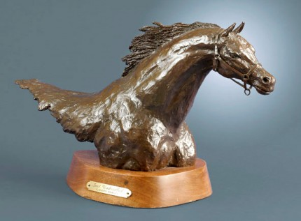 "Elizabeth Guarisco, American Contemporary ""Just Unbridled"" Editon: 5/25, Bronze on a rotating base, 8 x 17 x 10.5 inches, Initialed, Dated & Inscribed"