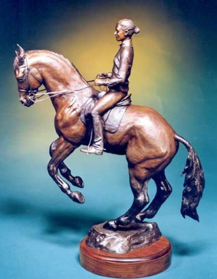 "Jean MacFarland Altshuler, American Contemporary ""Zanger's Pirouette"" Bronze, Edition: 5/7, 16.5 x 19.5 x 6 inches, Signed"
