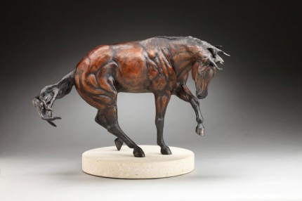 "Tammy Bality, American Contemporary ""The Spin at Liberty"" (Maquette, 1/4 scale) Bronze, Edition: 5 of 7, Signed"
