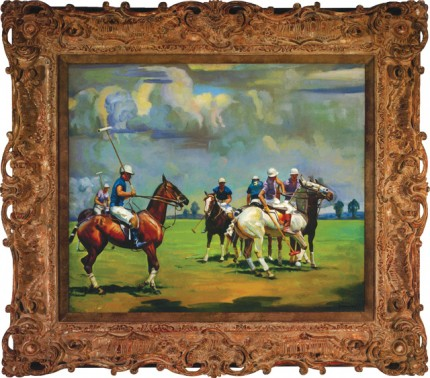 "Joseph Newman, American (1890-1979) ""Polo Match"" Oil on canvas, 30 x 36 inches, Signed lower right"