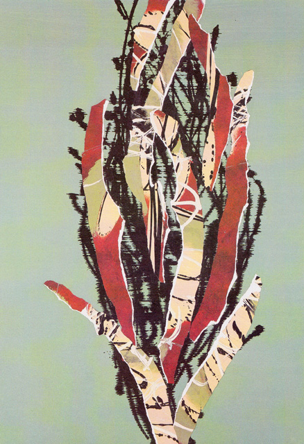 """""""Cypress VII"""" Cyprès Collection, 2001-2002, Mixed Media, 50 x 38 inches (127 x 96.5 cm)"""