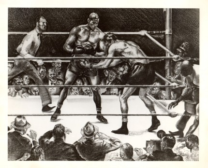 """Boxing"" Lithograph on paper"