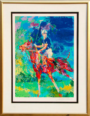 """Prince Charles at Windsor"" 1982, Serigraph, Edition 236/300, 30 x 22 inches, 43 x 33.5 inches, Signed & Numbered in pencil, Framed"