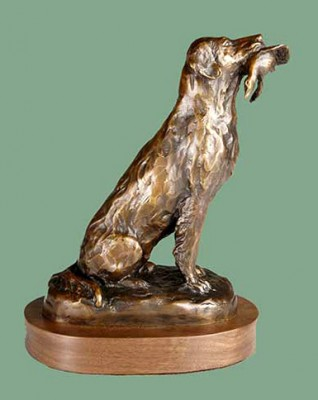 "Bunny Connell, American (20th Century) ""Duck Dog"" Bronze, Edition of 25, 4.5 x 6 x 8.5 inches"