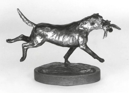 "Bunny Connell, American (20th Century) ""Fetch and Carry"" Bronze, Edition of 35, 9 x 3 x 7 inches"