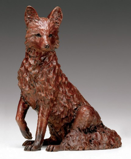 "Carrie Quade, American Contemporary ""Red"" Edition of 25, Bronze, 24 x 24 x 14 inches, Signed"