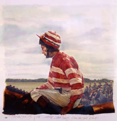 """Lester Piggott I"" Watercolour"