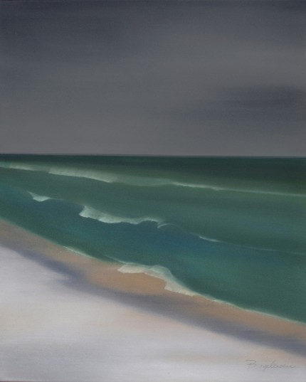 """Montauk"" Oil on canvas, 30 x 24 inches, Signed lower right"