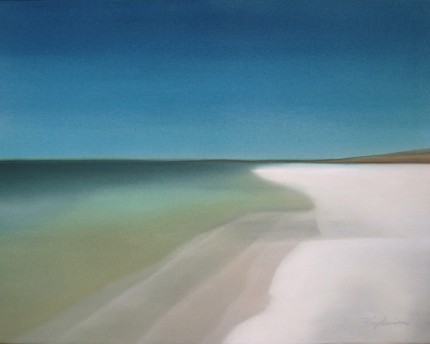 """""""Serenity"""" Oil on canvas, 24 x 30 inches, Signed lower right"""